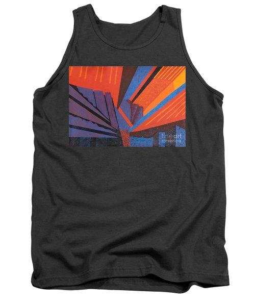 Rays Floor Cloth - Sold Tank Top by Judith Espinoza