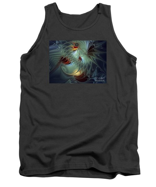 Tank Top featuring the digital art Reach For The Moon by Karin Kuhlmann