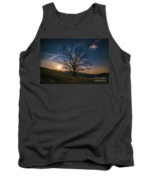 Reaching For The Moon Tank Top by Robert Loe
