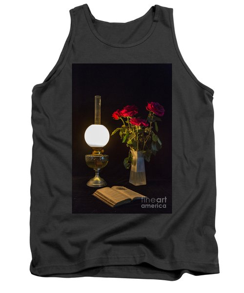 Reading By Oil Lamp Tank Top