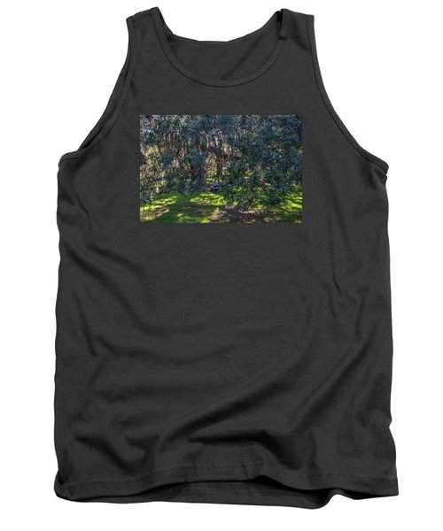 Reading In The Shade Of Live Oaks Tank Top