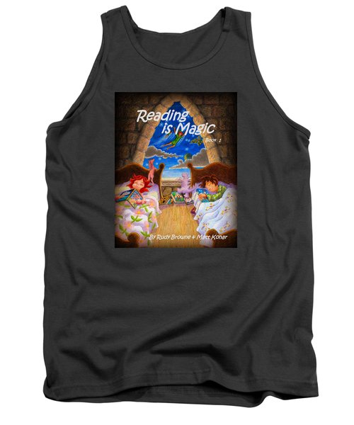 Tank Top featuring the painting Reading Is Magic by Matt Konar
