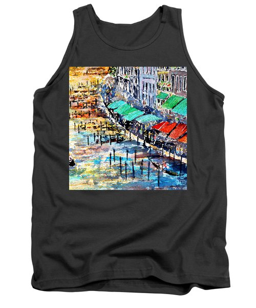 Tank Top featuring the painting Recalling Venice 02 by Alfred Motzer