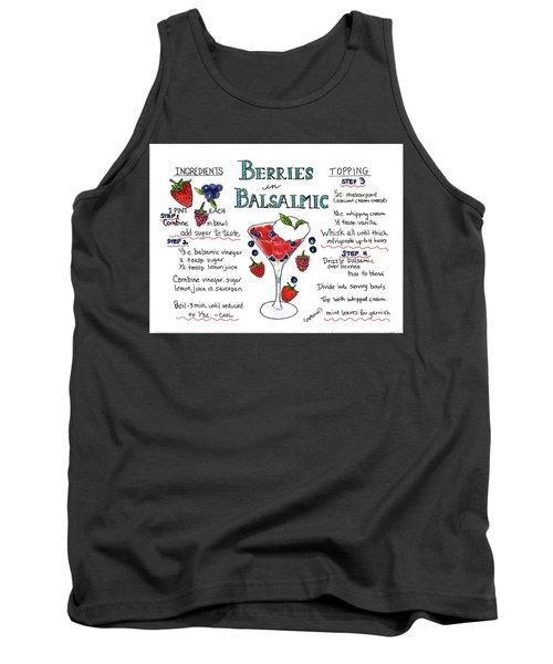 Recipe- Berries In Balsamic Tank Top
