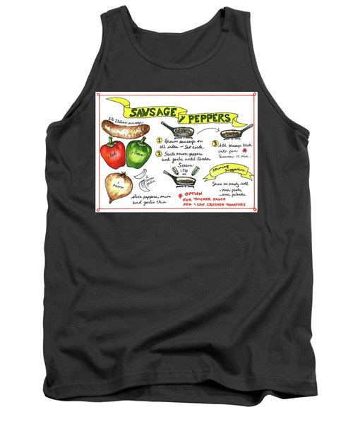 Recipe Sausage And Peppers Tank Top