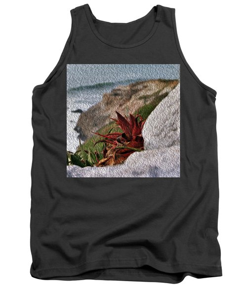 Red Aloe Vera By The Sea Tank Top