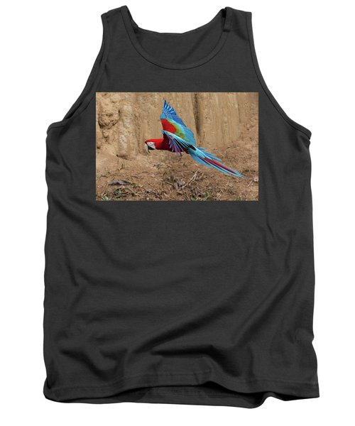 Red-and-green Macaw Tank Top