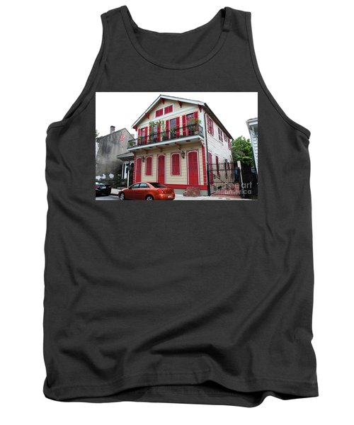 Tank Top featuring the photograph Red And Tan House by Steven Spak