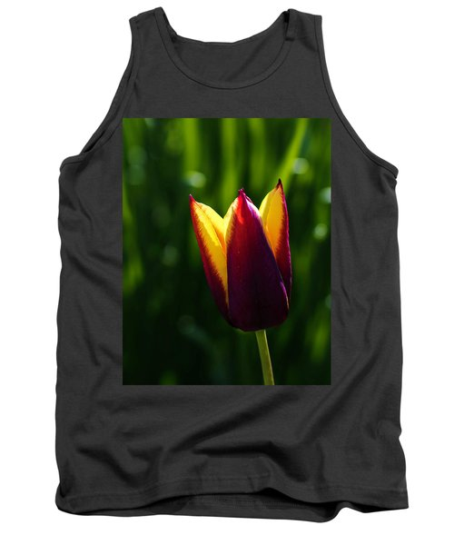 Red And Yellow Tulip Tank Top