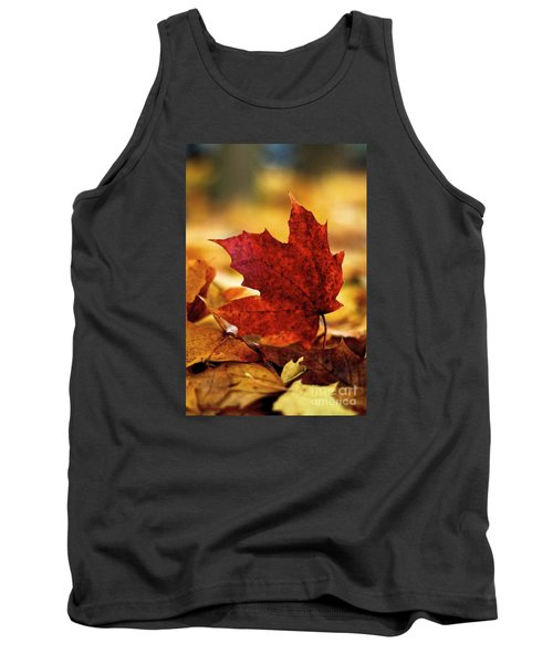 Tank Top featuring the photograph Red Autumn by Gary Bridger