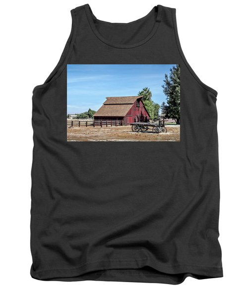 Red Barn And Wagon Tank Top