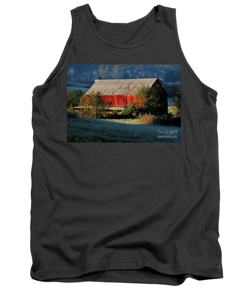 Red Barn Tank Top by Douglas Stucky