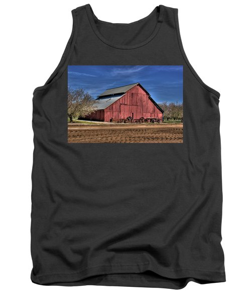 Tank Top featuring the photograph Red Barn by Jim and Emily Bush