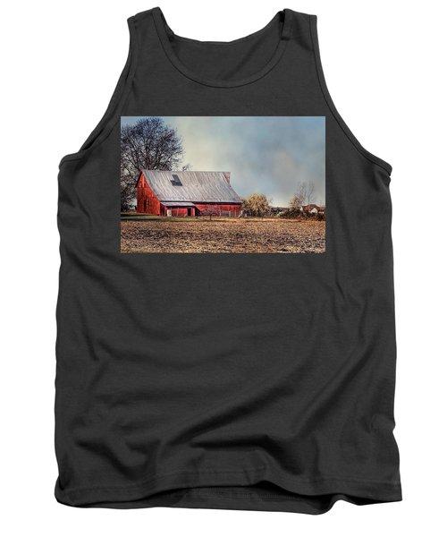 Red Barn In Late Fall Tank Top