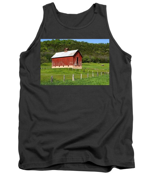 Red Barn With Cupola Tank Top