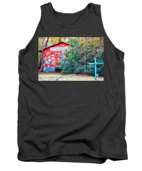 Red Barn With Signs, Heavily Guarded Tank Top