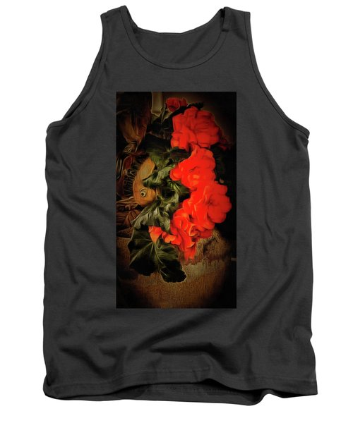 Tank Top featuring the photograph Red Begonias by Thom Zehrfeld