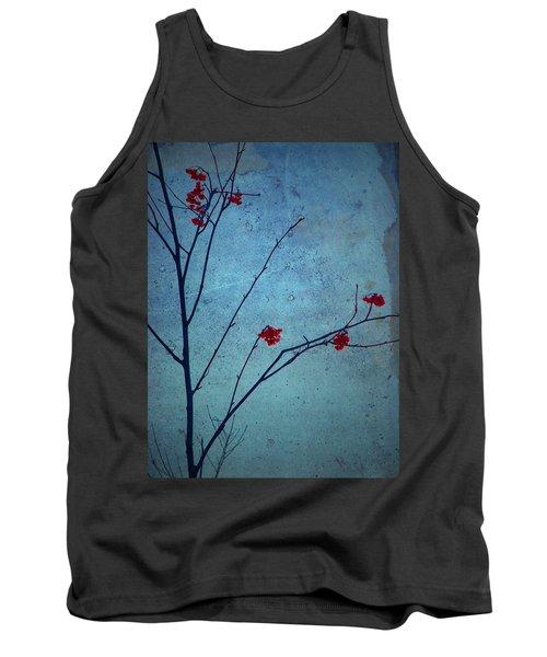 Red Berries Blue Sky Tank Top