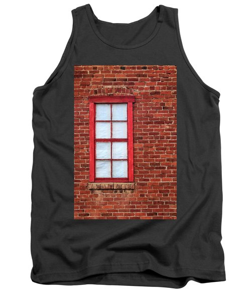 Tank Top featuring the photograph Red Brick And Window by James Eddy