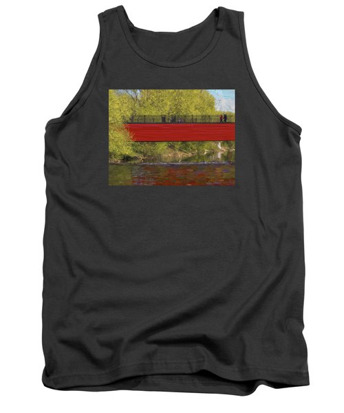 Tank Top featuring the photograph Red Bridge by Vladimir Kholostykh