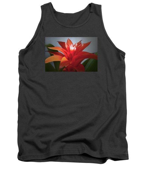 Red Bromeliad Bloom. Tank Top