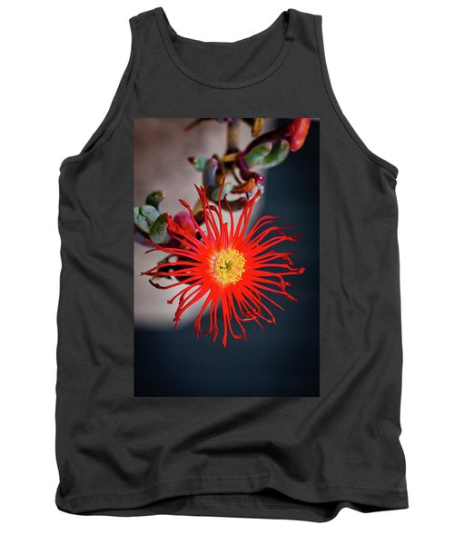 Tank Top featuring the photograph Red Crab Flower by Bruno Spagnolo
