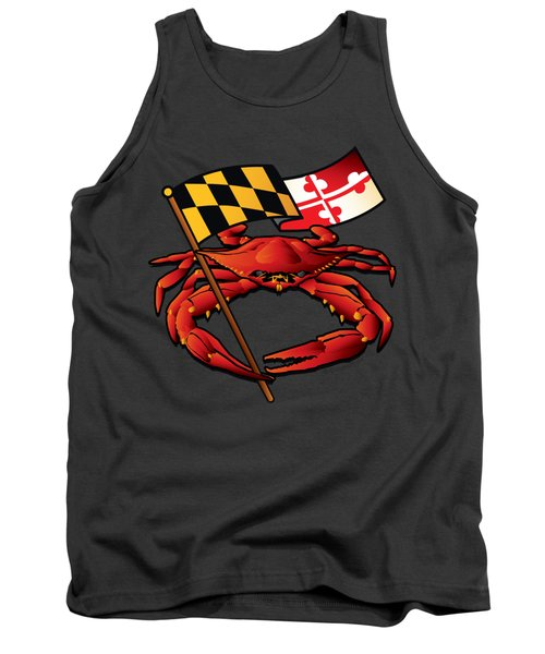 Red Crab Maryland Flag Crest Tank Top