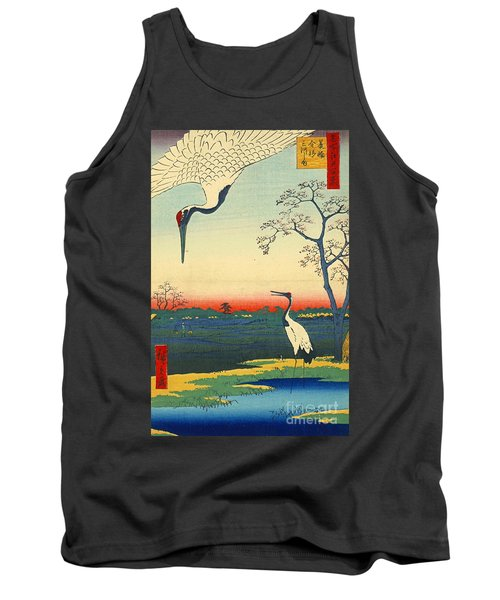 Red Crowned Cranes 1857 Tank Top by Padre Art