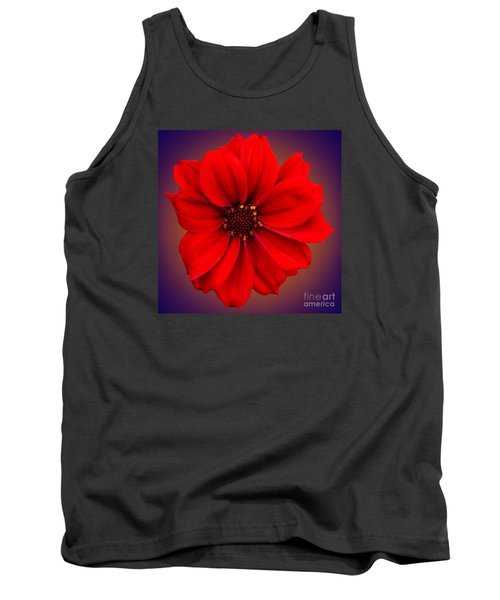 Tank Top featuring the photograph Red Dahlia-bishop-of-llandaff by Brian Roscorla