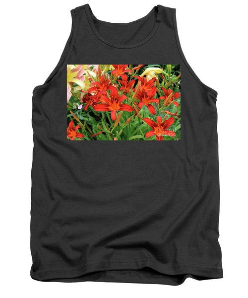 Red Daylilies Tank Top