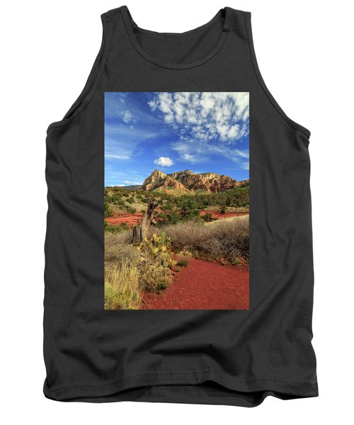 Red Dirt And Cactus In Sedona Tank Top by James Eddy