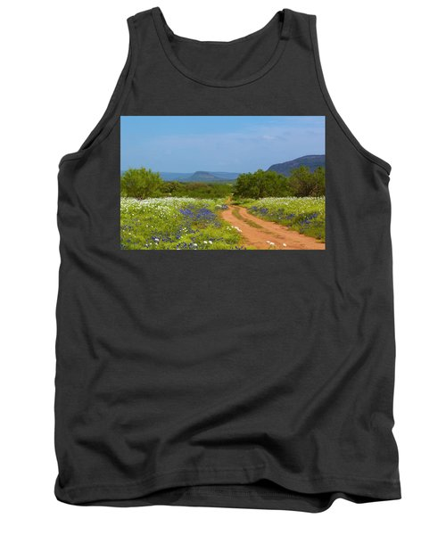 Red Dirt Road With Wild Flowers Tank Top