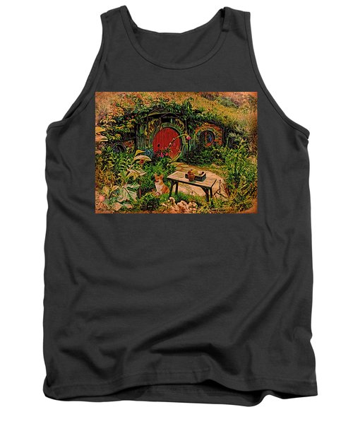 Red Door Hobbit House With Corgi Tank Top by Kathy Kelly