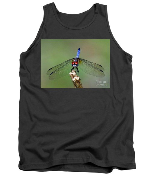 Red Eyed Dragonfly Tank Top by Myrna Bradshaw