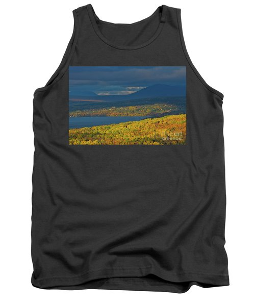 Red Farm House In Evening Light Tank Top