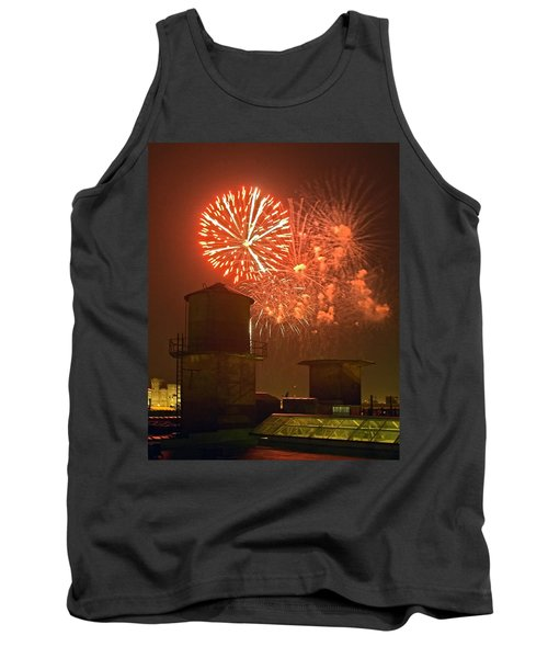 Red Fireworks Tank Top