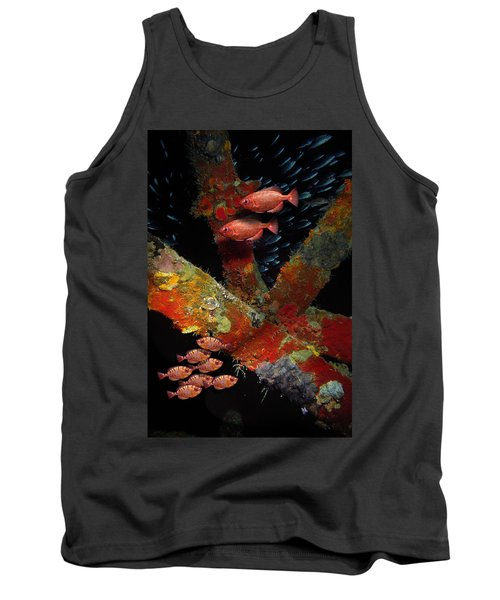 Red Fish On The Rhone Tank Top