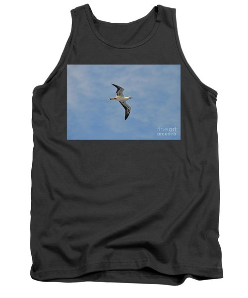 Tank Top featuring the digital art Red Footed Booby Bird 4 by Eva Kaufman