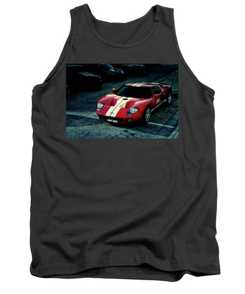 Tank Top featuring the photograph Red Ford Gt by Joel Witmeyer