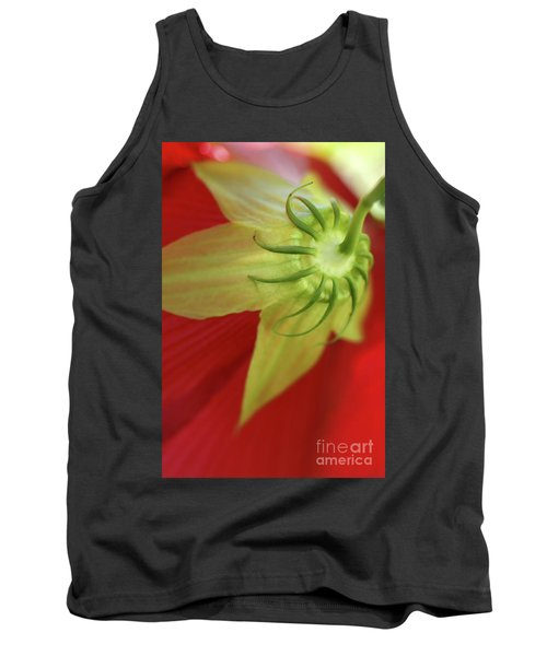 Red Hibiscus Macro Tank Top