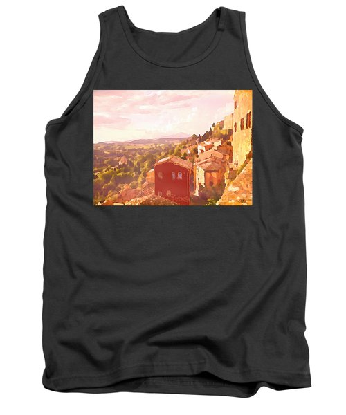 Red House On A Hill Tank Top