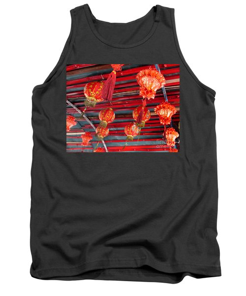 Tank Top featuring the photograph Red Lanterns 2 by Randall Weidner