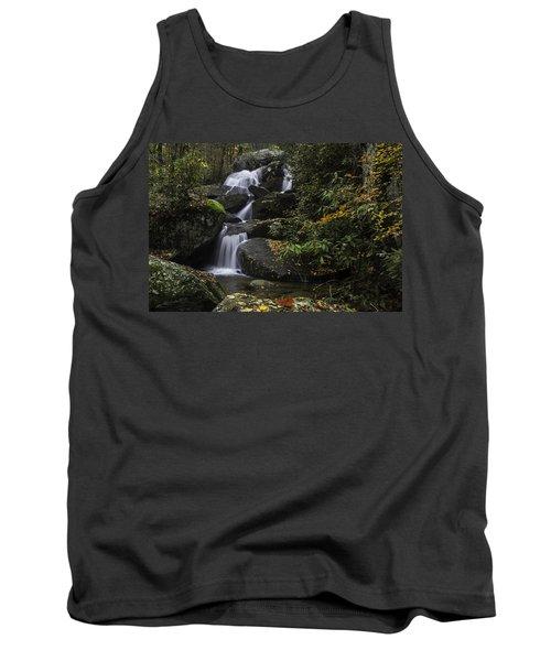 Red Leaf Waterfalls Tank Top