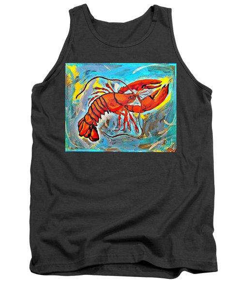 Red Lobster Abstract  Tank Top by Scott D Van Osdol