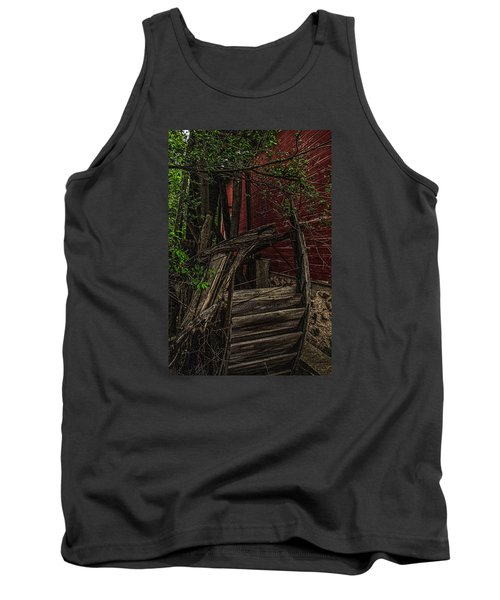 Tank Top featuring the photograph Red Mill Decayed Wheel by Trey Foerster