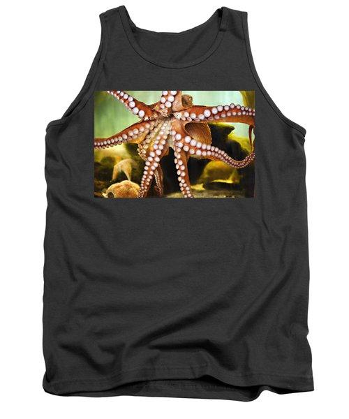 Red Octopus Tank Top