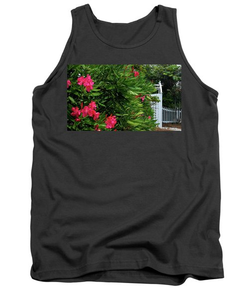 Tank Top featuring the photograph Red Oleander Arbor by Marie Hicks