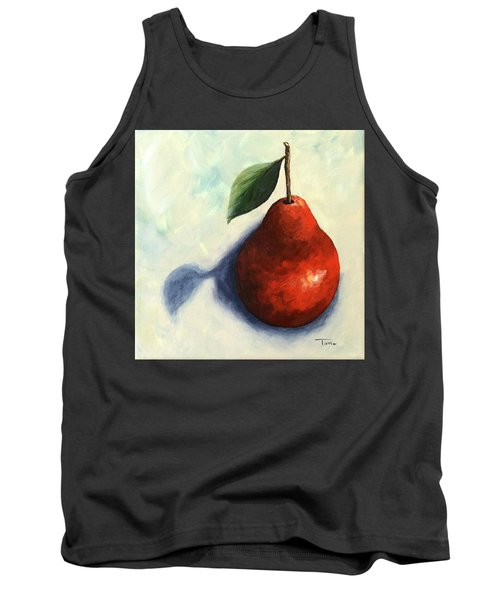 Red Pear In The Spotlight Tank Top by Torrie Smiley
