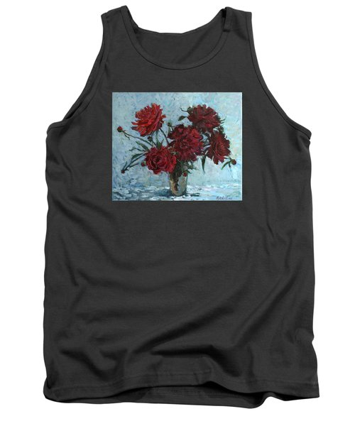 Red Piones Tank Top