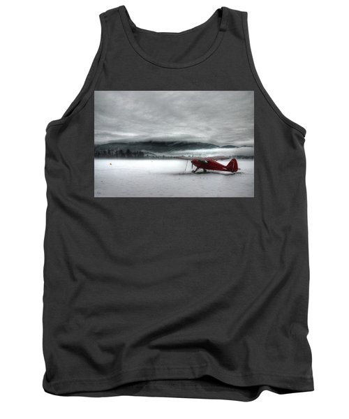 Red Plane In A Monochrome World Tank Top